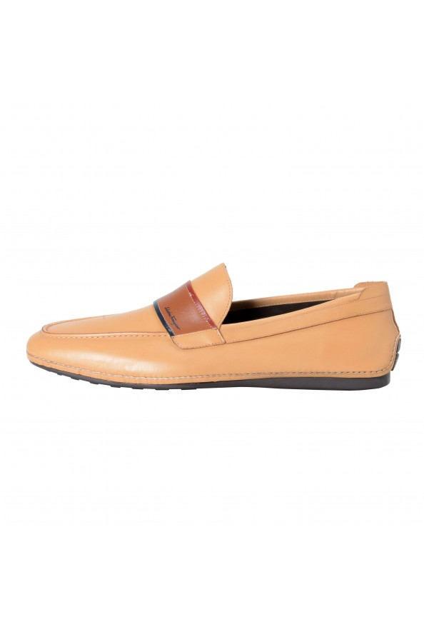 """Salvatore Ferragamo Men's """"FLORIDA"""" Light Brown Leather Loafers Slip On Shoes: Picture 2"""
