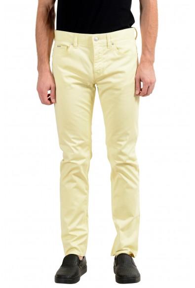 "Hugo Boss ""Delaware3-1-20+"" Men's Yellow Stretch Slim Jeans"