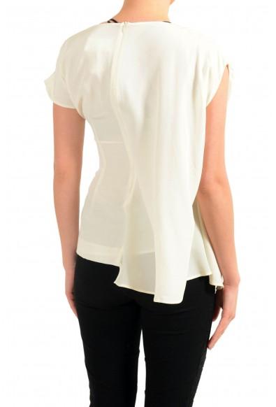 Maison Margiela 1 Women's 100% Silk Asymmetrical Blouse Top: Picture 2