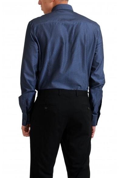 """Versace Collection """"Trend"""" Navy Patterned Men's Dress Shirt: Picture 2"""