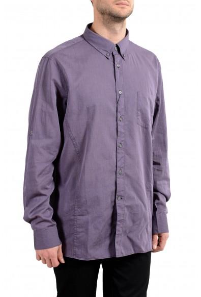 John Varvatos Purple Long Sleeve Men's Dress Shirt