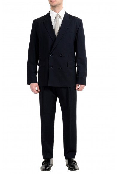 """Hugo Boss """"Ulan/Fabo182"""" Men's Oversize Fit Wool Blue Double Breasted Suit"""