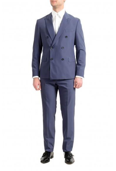 "Hugo Boss ""Namil1/Ben2"" Men's Slim Double Breasted Blue Suit"