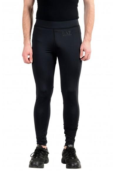 """Emporio Armani EA7 """"Tech"""" Men's Black Stretch Bicycle Leggings Pants"""