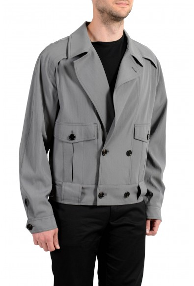 """Hugo Boss """"Powerkid_RW"""" Men's Wool Gray Double Breasted Light Jacket: Picture 2"""