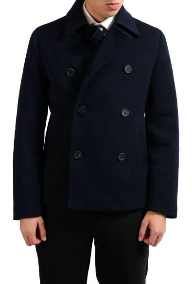 Prada Wool Navy Double Breasted Men's Basic Jacket