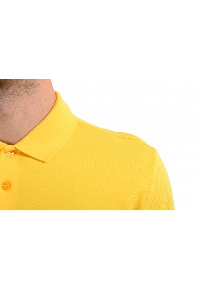 Versace Collection Men's Yellow Short Sleeve Polo Shirt: Picture 2