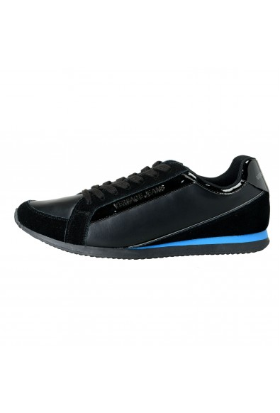 Versace Jeans Men's Black Leather Mesh Fashion Sneakers Shoes: Picture 2