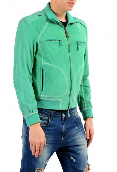Just Cavalli Men's 100% Suede Leather Green Full Zip Jacket : Picture 2