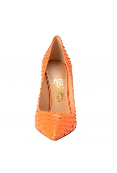 Salvatore Ferragamo Susi 100 Women's Python Skin Orange High Heels Pumps Shoes: Picture 2