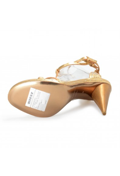 """BURBERRY """"London"""" Women's Gold Leather Ankle Strap High Heels Sandals Shoes: Picture 2"""