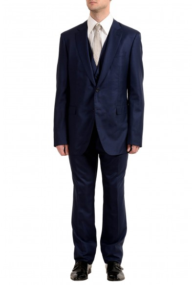 "Hugo Boss ""FHarveson2Garvin2WE"" Men's Silk Wool Three-Piece Suit"