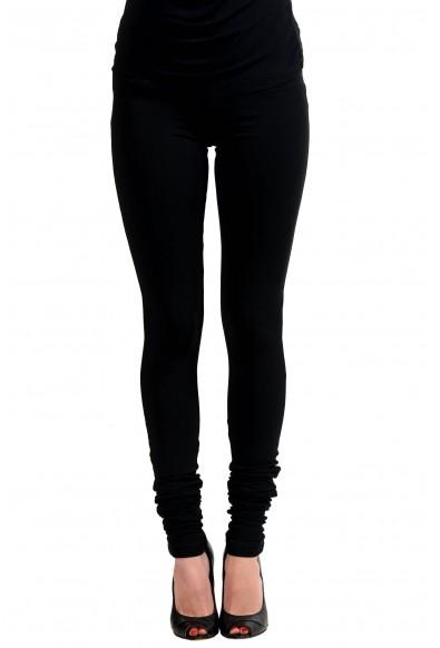 Maison Margiela 1 Black Elastic Waist Women's Leggings