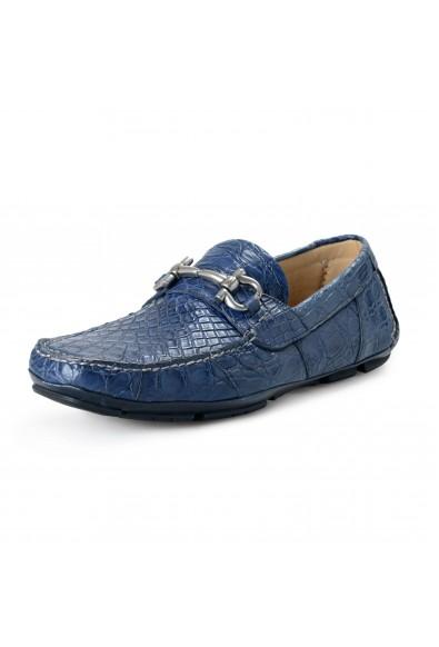 Salvatore Ferragamo Men's PARIGI Croc Leather Loafers Shoes