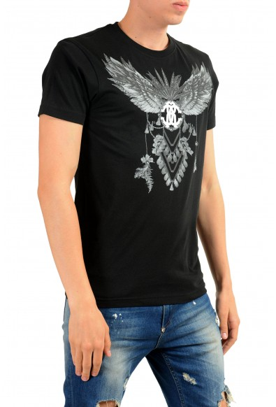Roberto Cavalli Men's Black Graphic Print T-Shirt: Picture 2