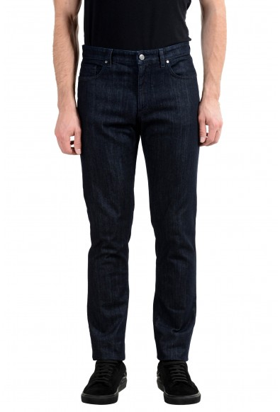 """Versace Collection """"Trend"""" Men's Dark Gray Stretch Classic Jeans"""