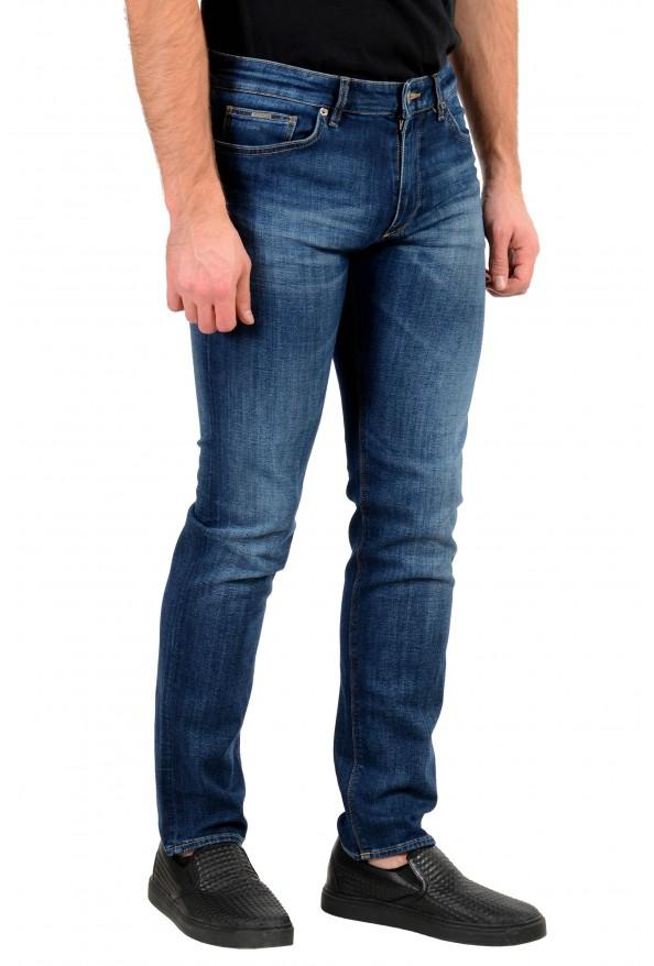 "Hugo Boss Men's ""Maine3"" Regular Fit Blue Wash Stretch Jeans: Picture 2"