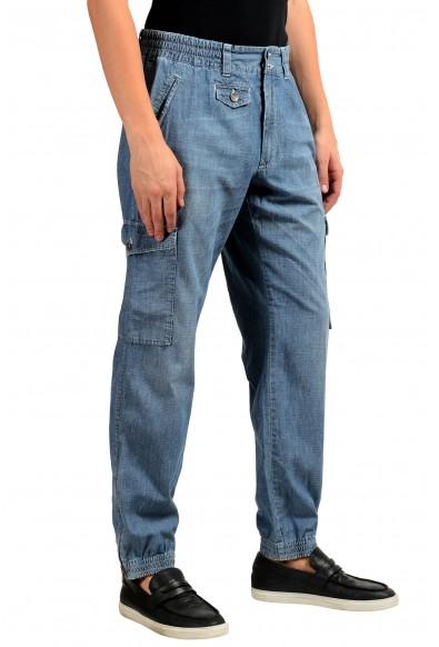 Dolce & Gabbana Men's Blue Denim Cargo Casual Pants: Picture 2