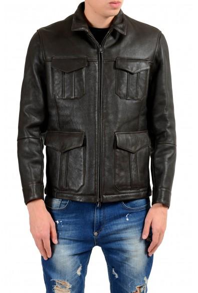 Brunello Cucinelli Men's 100% Leather Shearling Full Zip Jacket