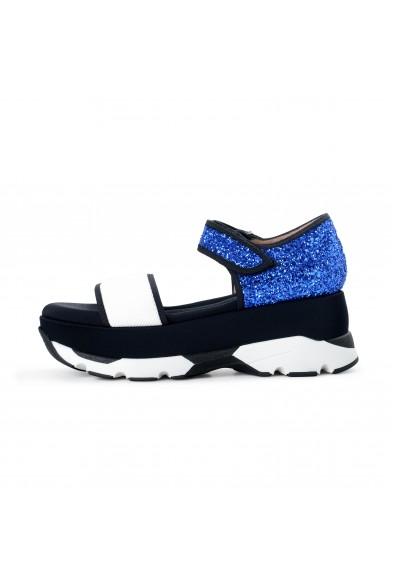 Marni Women's Sparkle Leather Canvas Ankle Strap Sandals Shoes: Picture 2
