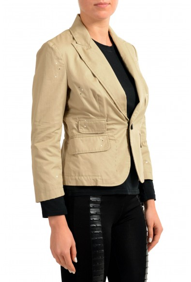 Dsquared2 Distressed Brown One Button Women's Blazer: Picture 2