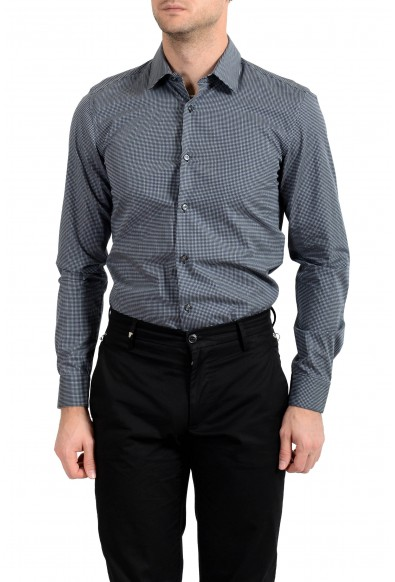 "Hugo Boss Men's ""Isko"" Slim Fit Geometric Print Dress Shirt: Picture 2"