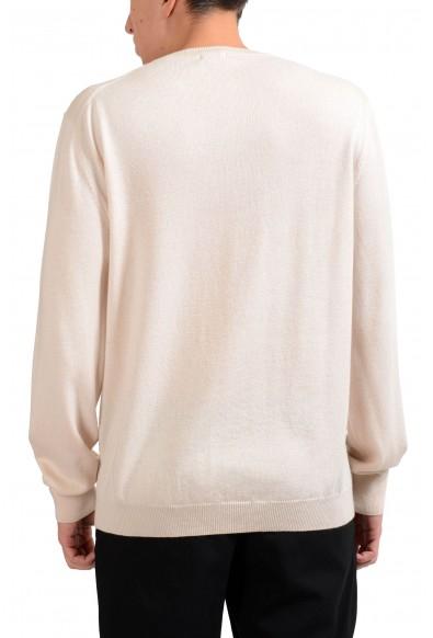 Malo Men's 100% Cashmere Beige V-Neck Pullover Sweater : Picture 2