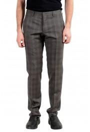 "Hugo Boss ""Genesis3"" Men's 100% Wool Gray Plaid Dress Pants"