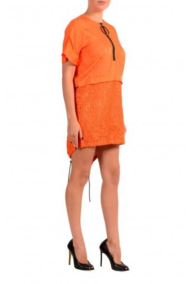 Just Cavalli Women's Orange Lace Short Sleeve Shift Dress : Picture 2