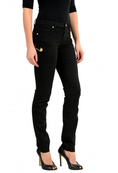 Versace Versus Black Pins Decorated Slim Fit Women's Jeans: Picture 2