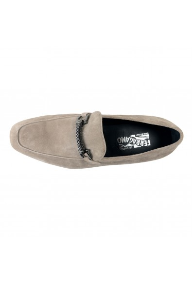 """Salvatore Ferragamo Men's """"Cross"""" Gray Suede Leather Loafers Slip On Shoes: Picture 2"""