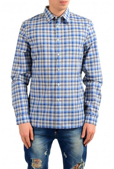 Prada Men's Plaid Long Sleeve Dress Shirt