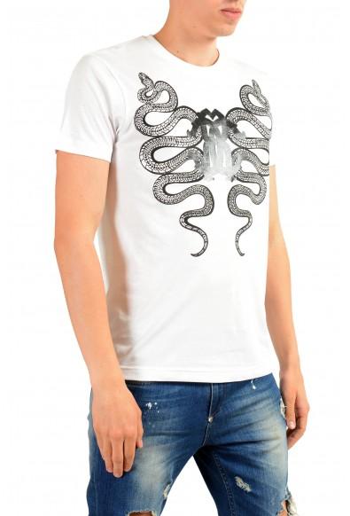 Roberto Cavalli Men's White Graphic Print T-Shirt: Picture 2