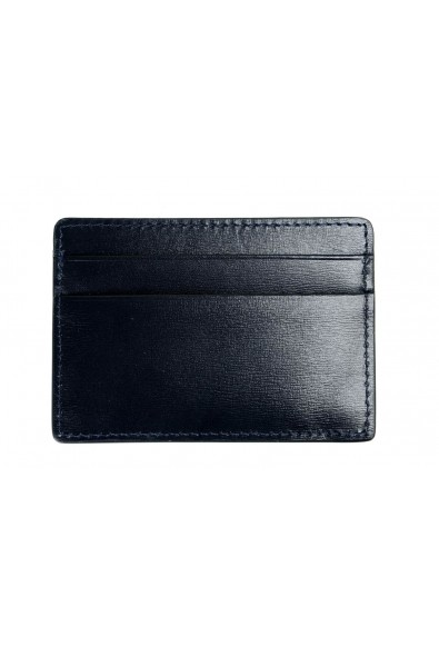 Versace Men's 100% Leather Navy Blue Card Holder: Picture 2