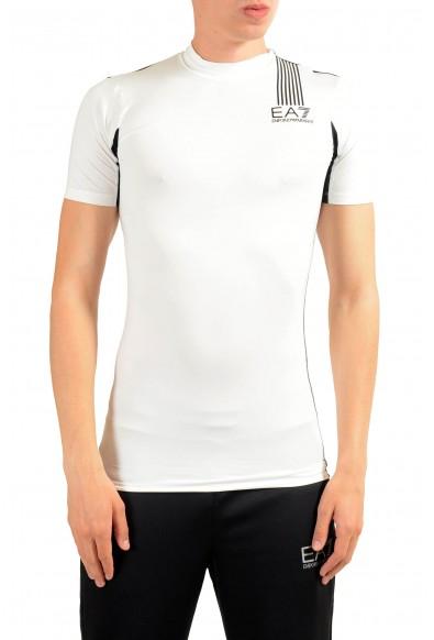 "Emporio Armani EA7 ""Tech M"" Men's White High Neck T-Shirt"