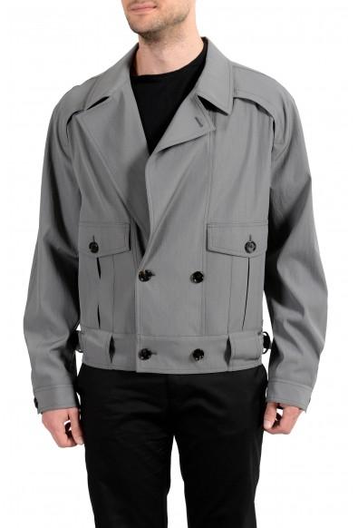 "Hugo Boss ""Powerkid_RW"" Men's Wool Gray Double Breasted Light Jacket"