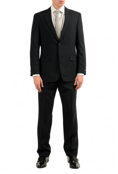 "Hugo Boss ""Paolini1/Movio1US"" Men's 100% Wool Black Two Button Suit"