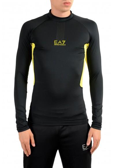 "Emporio Armani EA7 ""Tech M"" Men's Black High Neck Long Sleeve T-Shirt"