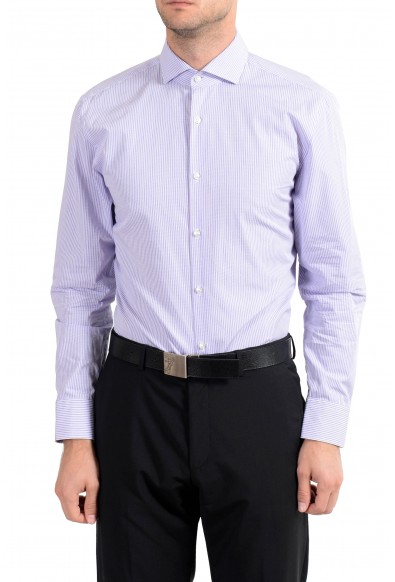 "Hugo Boss ""C-Meli"" Men's Striped Sharp Fit Long Sleeve Dress Shirt"