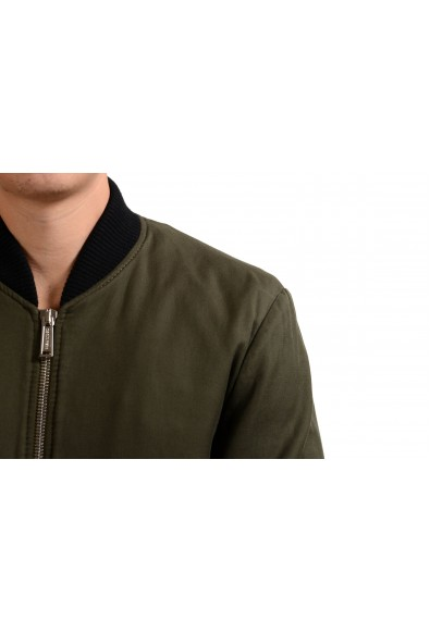 Dsquared2 Men's Olive Green Full Zip Padded Bomber Jacket : Picture 2