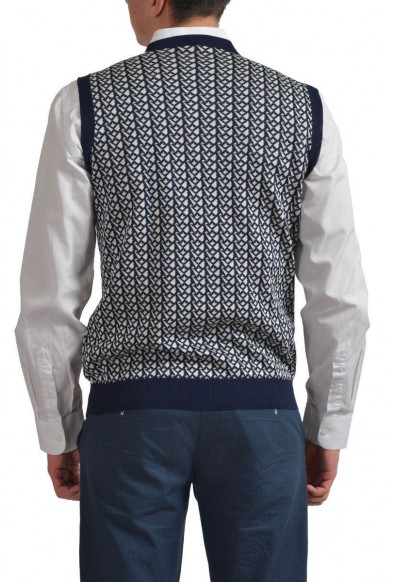 Prada Men's Multi-Color Silk V-Neck Sleeveless Vest Sweater : Picture 2