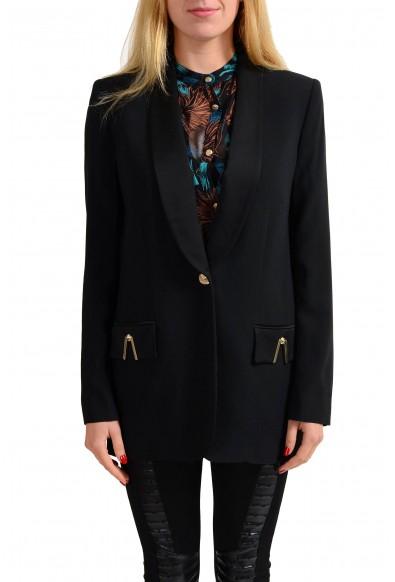 Versace Jeans Black One Button Women's Blazer