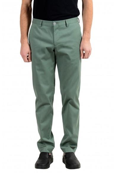 "Hugo Boss ""Stanino17-W"" Men's Green Stretch Casual Pants"