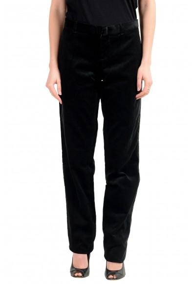 Dolce & Gabbana D&G Women's Black Corduroy Flat Front Pants