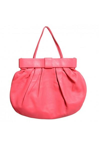 Red Valentino Women's Pink 100% Leather Bow Decorated Handbag Shoulder Bag