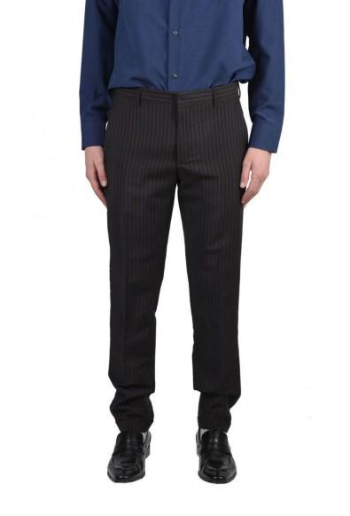 Prada Men's Multi-Color Striped Wool Mohair Dress Pants