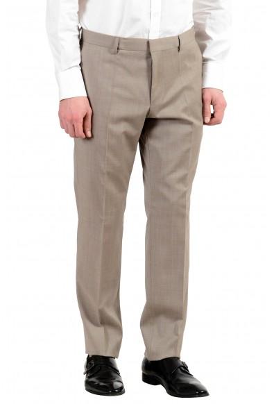 """Hugo Boss """"Huge6/Genius5"""" Men's 100% Wool Slim Beige Two Button Suit: Picture 2"""