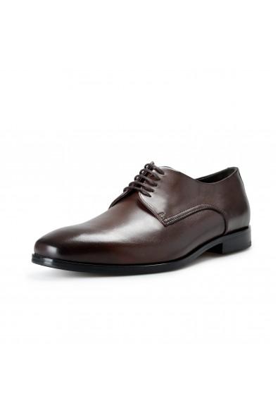 """Hugo Boss Men's """"Highline_Derb_bu"""" Brown Leather Derby Shoes"""
