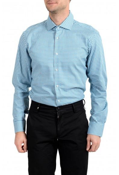 "Hugo Boss Men's ""Gordon"" Regular Fit Plaid Long Sleeve Dress Shirt"