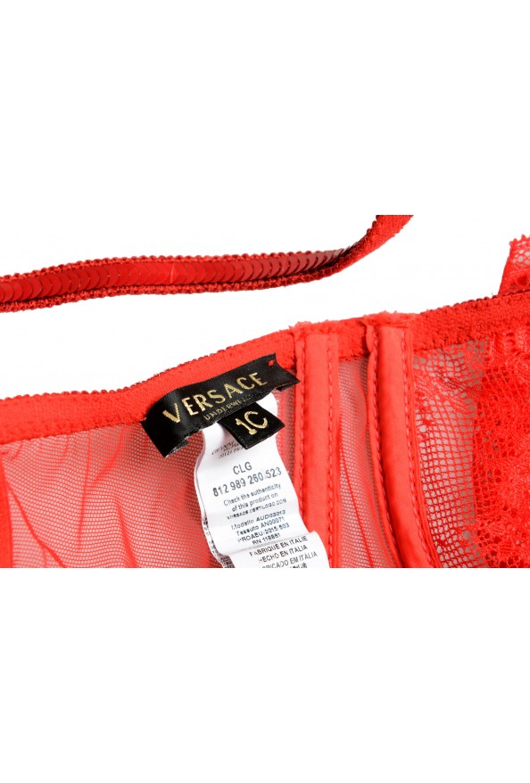 Versace Women's Bright Red Embellished Balconette Bra: Picture 5